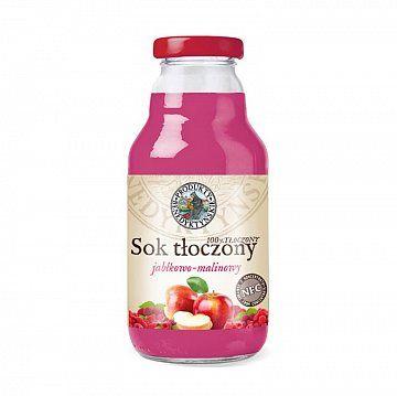 Sok tłoczony jabłkowo - malinowy  - Produkty Benedyktyńskie    Sok tłoczony jabłkowo - malinowy wytwarzany jest w tradycyjny sposób ze świeżych owoców, metodą tłoczenia na zimno, co pozwala na zachowanie zdrowotnych wartości s...