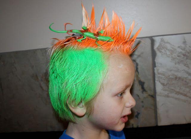 True Blue Aggie Fans Crazy Hair Day
