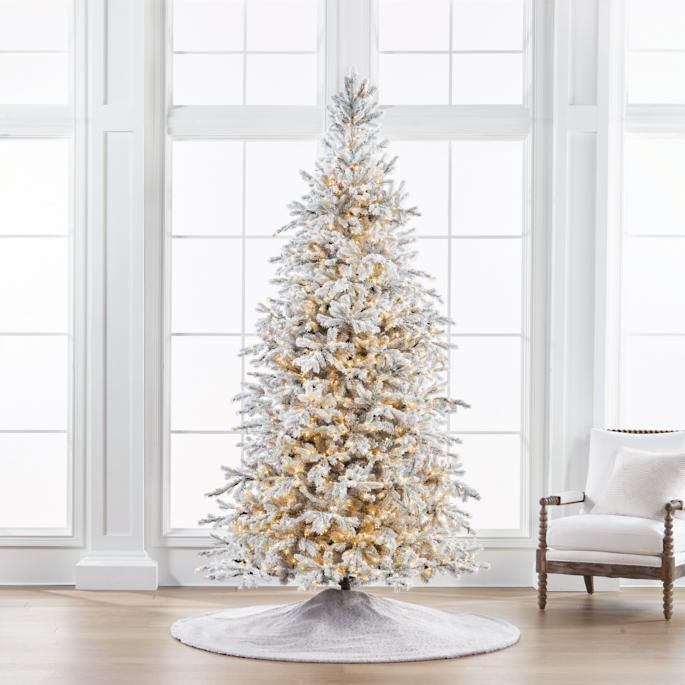 Sparkling Snow Color Changing Full Profile Tree Frontgate Christmas Bedroom Christmas Tree Gold Christmas