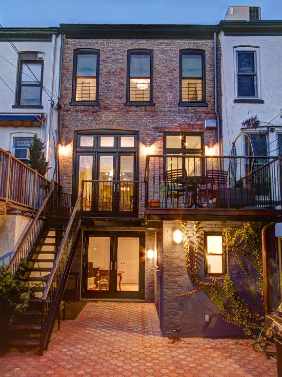 Brick Townhouse In Brooklyn, New York With Backyard Garden/patio. Like The Brick  Design.