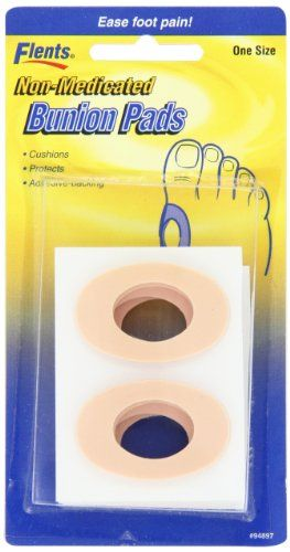 Flents By Apothecary Products  Inc. Flents Bunion Pads Non Medicated  8-Count (Pack of 3). Color: Tan. Pack of 8 count. Non-medicated. Self Adhesive. Easy to use. Date of release: 2010-05-14. Publication date: 2010-05-12. Item Dimensions: width: 325, height: 100 hundredths-inches. Flents Bunion Pads Non Medicated help prevent painful rubbing.