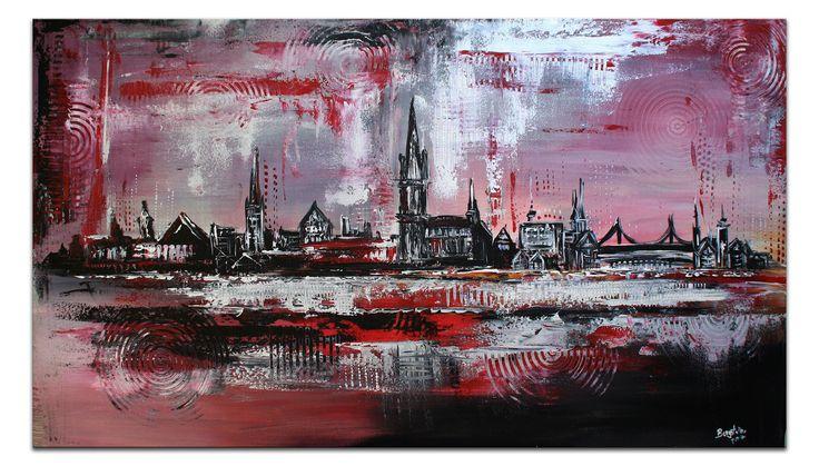 Ulm gemalt - Stadt Bild Gemälde Münster Bücherei Museum Metzgerturm #stadtbilder #stadtgemälde #stadtmalerei #städtebilder #städtemalerei #stadt #städtebilder #abstraktstadt #skylineabstrakt #skylinegemälde