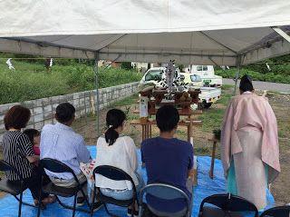 健康住宅とリフォーム 注文住宅 平屋 2世帯 三重県鈴鹿市 みのや: 地鎮祭 今月は2件の地鎮祭でした。おめでとうございます。