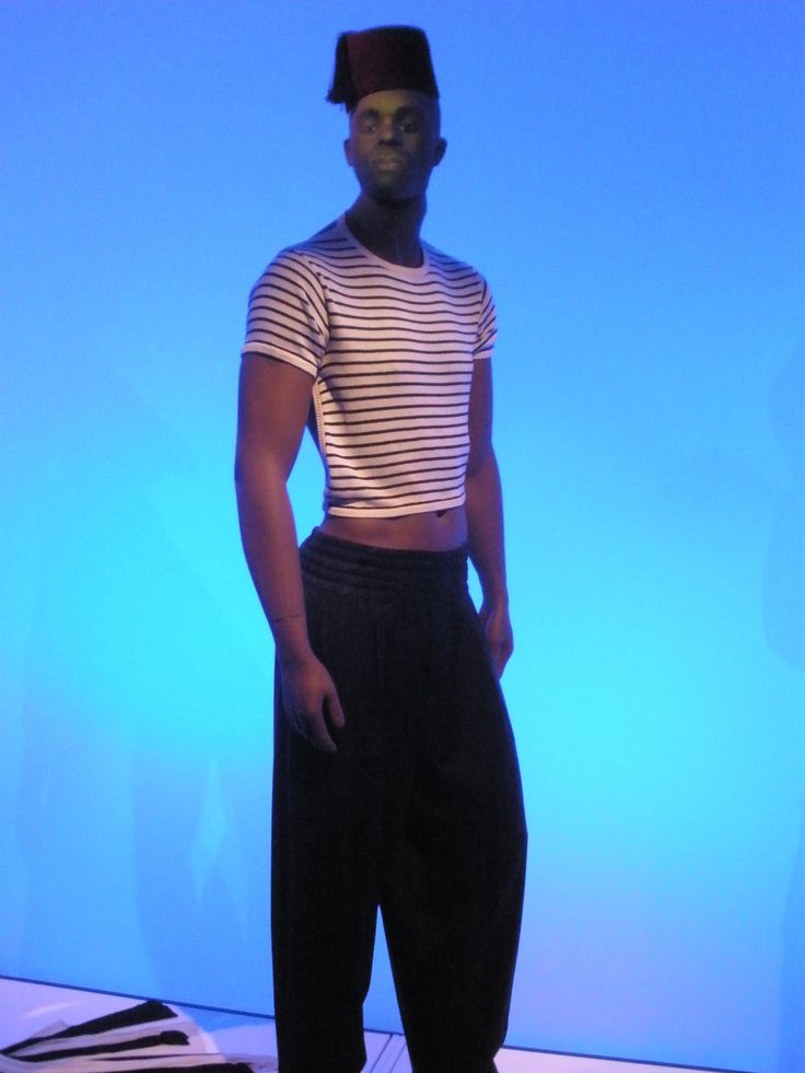 Jean-Paul Gaultier, Barbican, fashion, Breton, stripes, fez