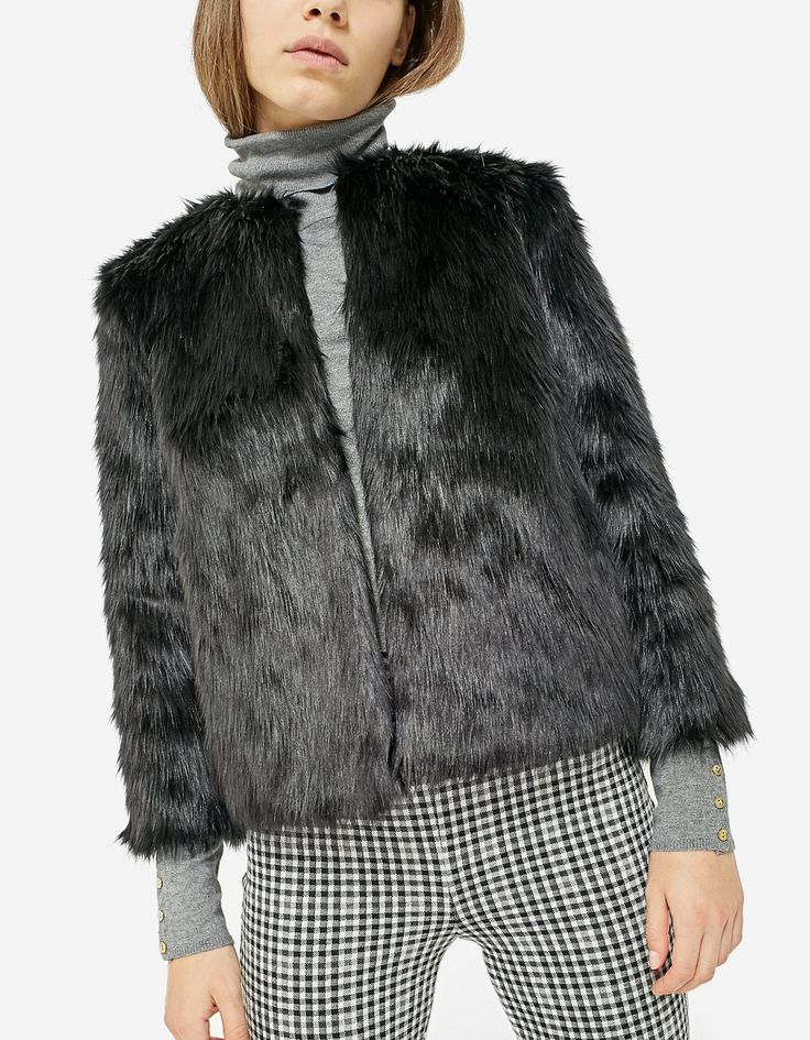 At Stradivarius you'll find 1 Faux fur jacket for just 179.9 Romania . Visit now to discover this and more Coats.