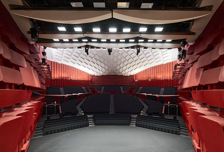 Palais de la Musique et des Congrès (PMC) Strasbourg – Concert hall Erasme for 1.900 visitors / view from the stage