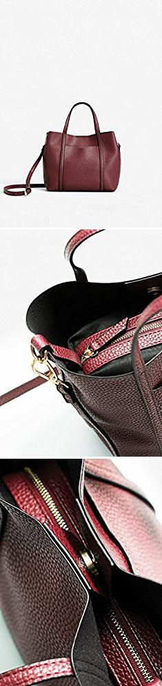Mango Bags. Mango Women's Pebbled Cross-Body Bag, Burgundy, One Size.  #mango #bags #mangobags