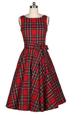 50s Rockabilly Bombshell Pinup mulheres Escócia Xadrez Vermelho Vestido #c 011 | Roupas, calçados e acessórios, Roupas femininas, Vestidos | eBay!