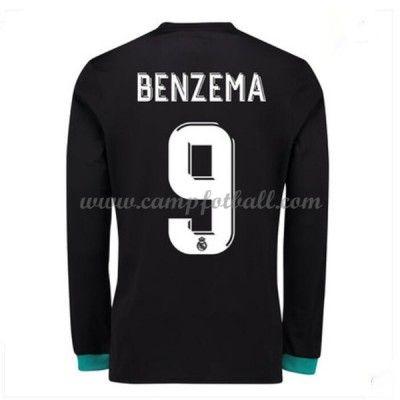Real Madrid Fotballdrakter 2017-18 Karim Benzema 9 Bortedrakt Langermet
