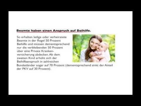 Private Krankenversicherung Beamte - YouTube