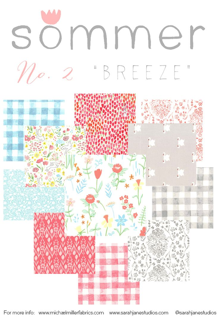 Introducing: SOMMER fabric collection — Sarah Jane Studios
