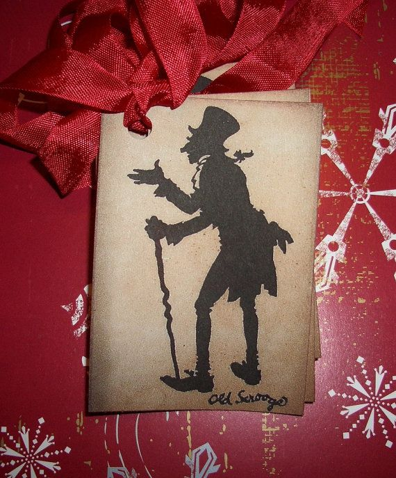 Christmas Tags - Ebenezer Scrooge - Silhouette - Charles Dickens - Christmas Carol -  Party Favor Tags - Embellishments -  Set of Six on Etsy, $4.78 CAD