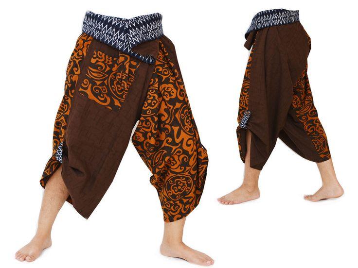 Pantaloni cavallo basso - Pantaloni Harem, Pantaloni Samurai - un prodotto unico di Siamrose su DaWanda