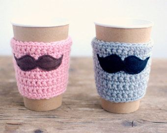 Natural Coffee Cup Cozy Crochet Coffee Sleeve by thecozyproject