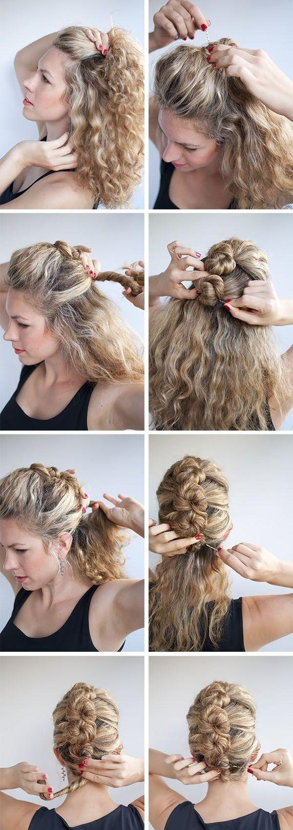 Crea un falso mohawk (fauxhawk) haciendo unos pequeños chongos en la parte de atrás de tu cabeza. | Los 19 peinados más trendy para graduarte con estilo