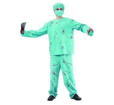 Strój karnawałowy dla mężczyzny Chirurg we krwi. Doskonały kostium na Halloween.