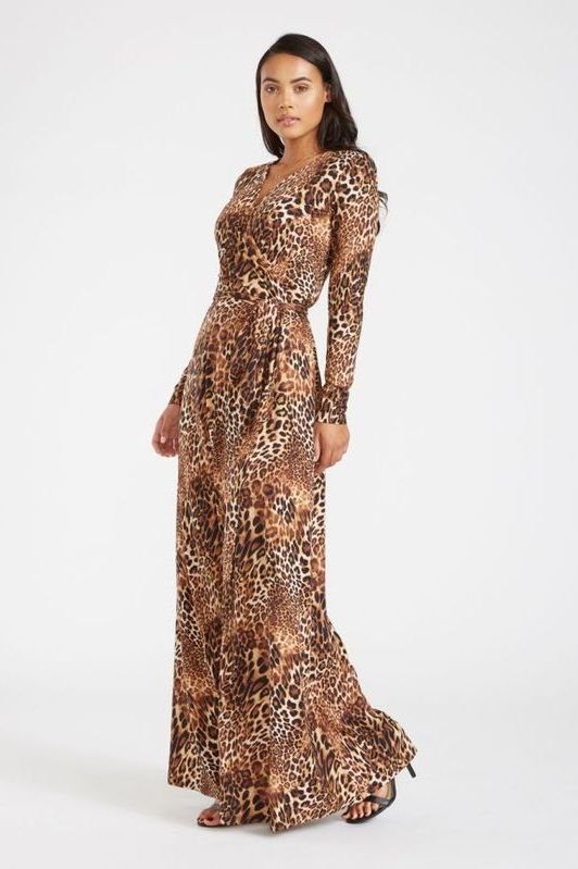 a0a2ec73 Leopard Print Tall Maxi Dress for Women - The new fierce, flattering, and  seductive wrap dress. Designed for tall women, with long sleeves, ...