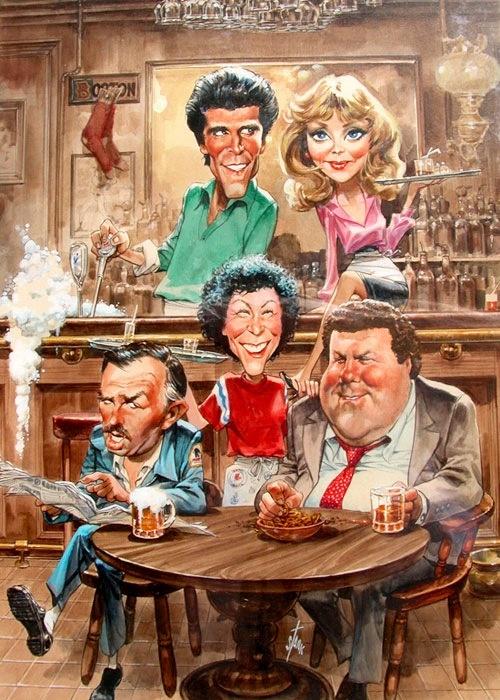 Cheers! Een geweldig leuke serie die zich afspeelt in een bruin cafe.