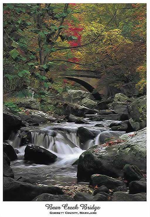 Bear Creek Bridge  Deep Creek Lake Area by WindrushOnline on Etsy, $15.00