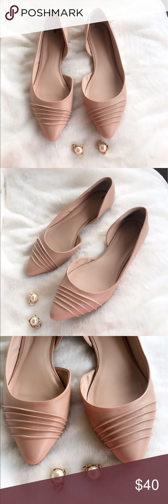 Nine West flats Nine West open side pointed toe nude flats Nine West Shoes Flats & Loafers
