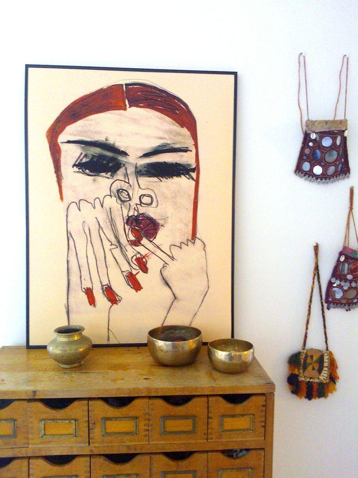 """red nails"" interior boheme. monikapetersen.com"