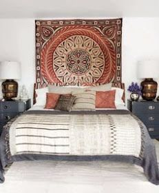 EV DEKORASYON HOBİ: Bohem stili yatak odaları