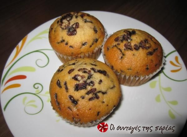 Muffins ή κεκάκια αφράτα #sintagespareas #muffins