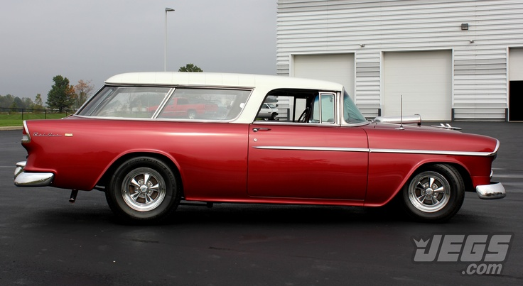 "1955 Chevy Nomad - JEGS Featured Car!  love the ""Stance"" of this car"