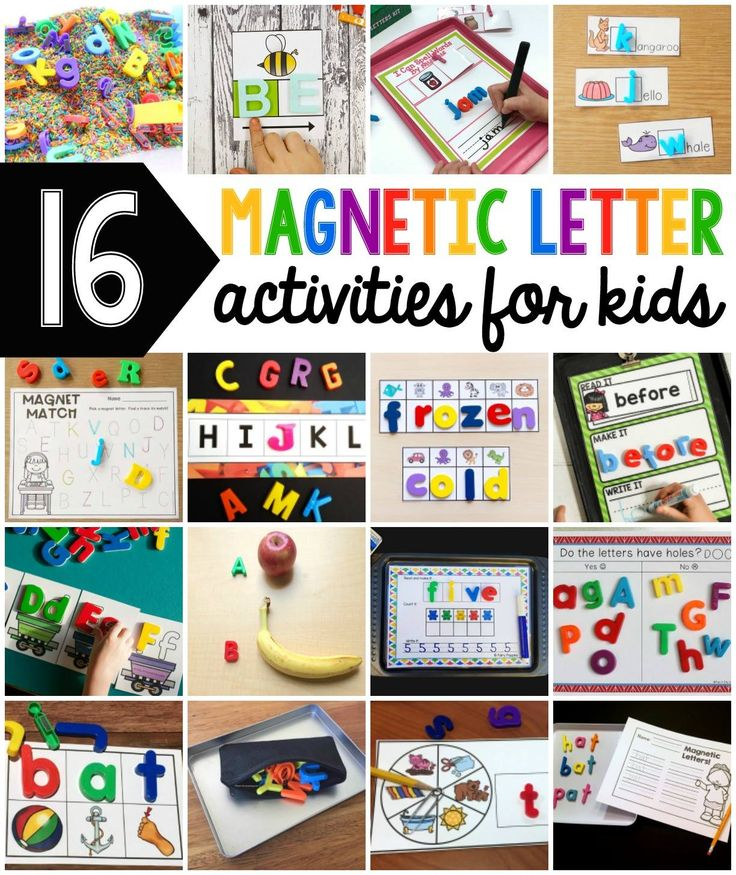 Snag this free Magnetic Letters Literacy Center to use all year long!  Perfect for K-2nd grade!