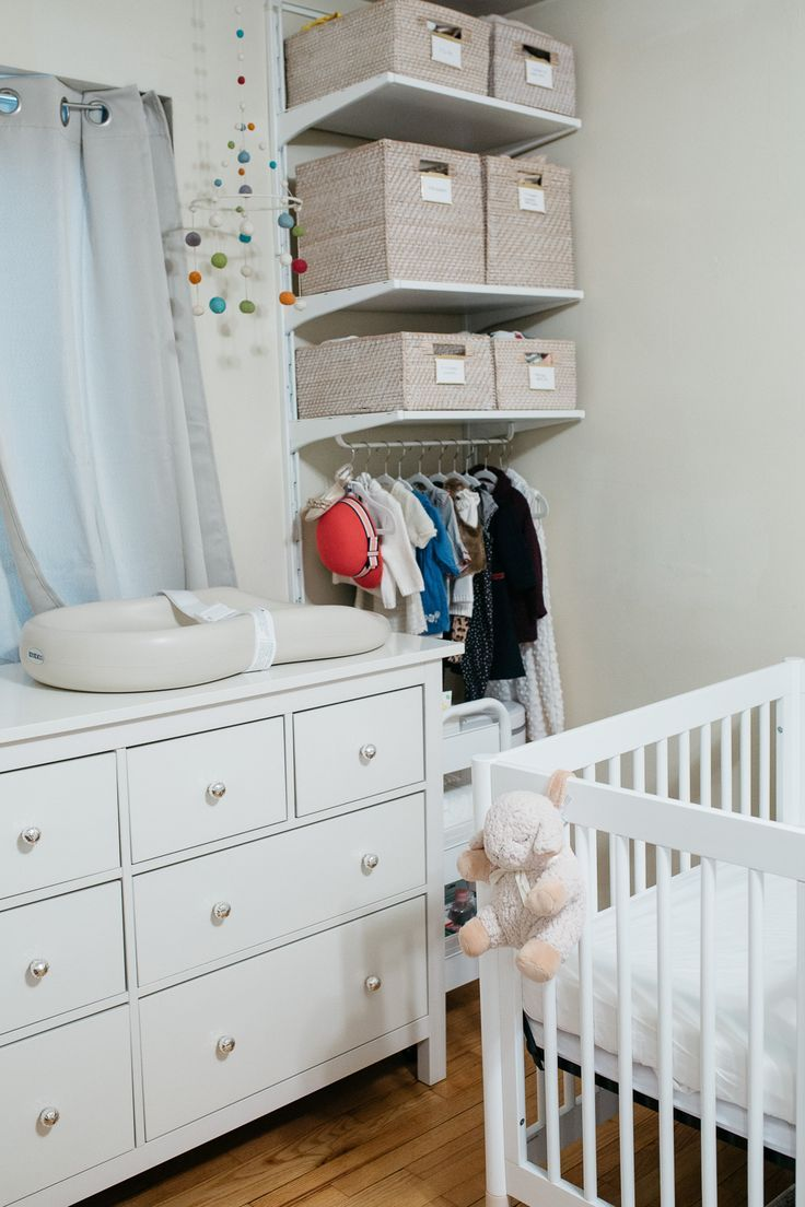 Nursery Ideas  Small baby room, Baby room storage, Small space