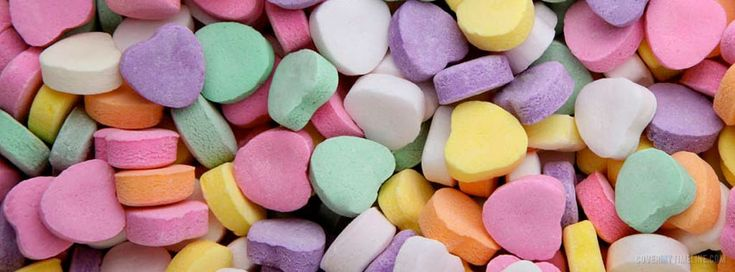 Candy Hearts Facebook Timeline Cover