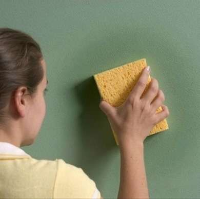 How to Clean Painted Walls. Purchase a dust mop for floors or put a rag over a broom to clean areas out of reach.