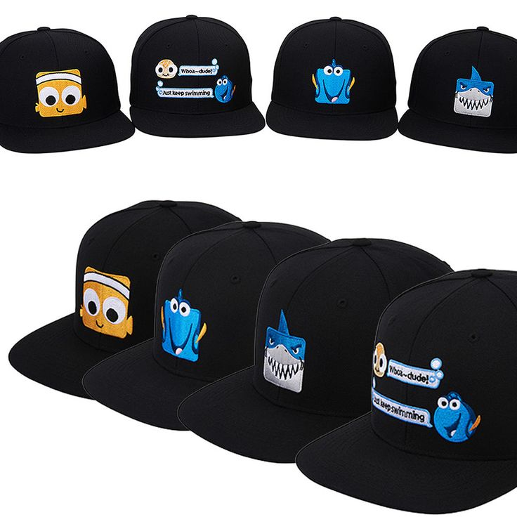 Men Women Authentic Disney PIXAR Finding Dory BRUCE DORY NEMO Snapback Caps Hats #hellobincom #BaseballCapHats