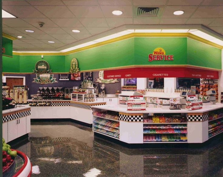 Inside of a Wawa store, 1997