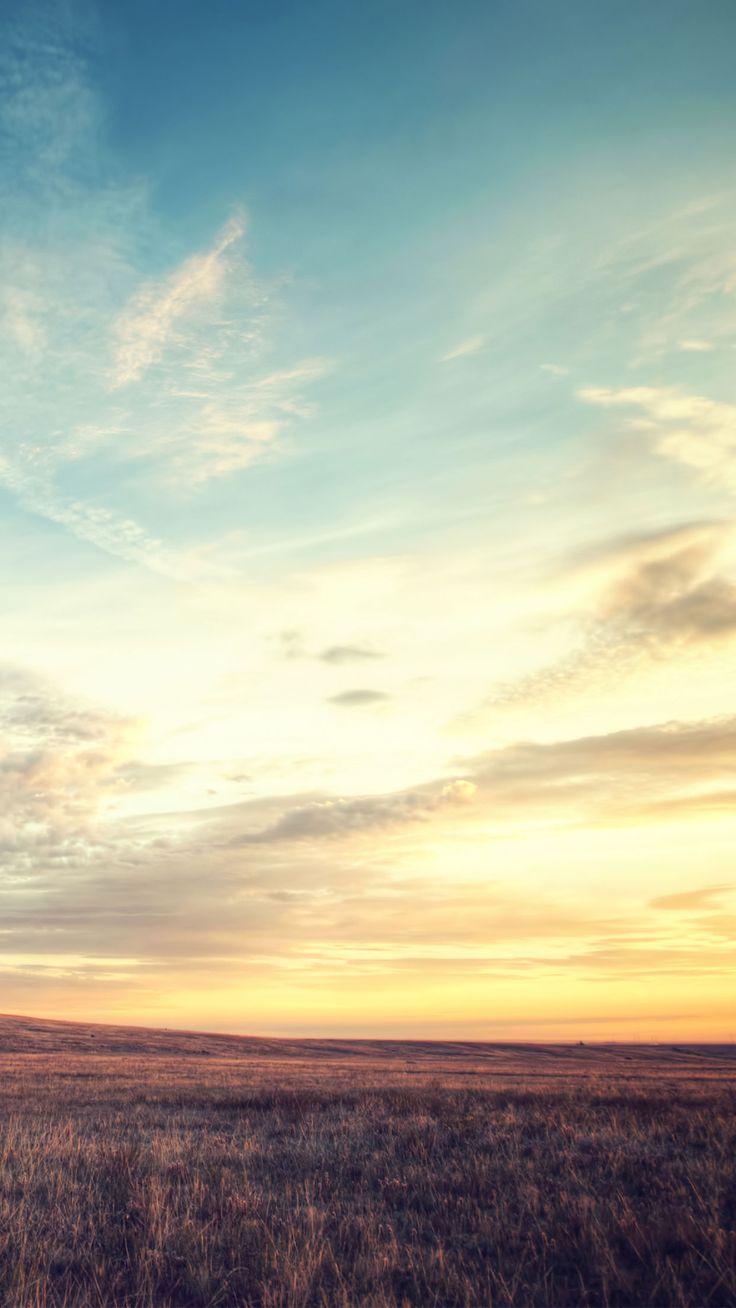 sunset field clouds nature wallpaper #Iphone #android #sunset #nature #wallpaper more on wallzapp.com