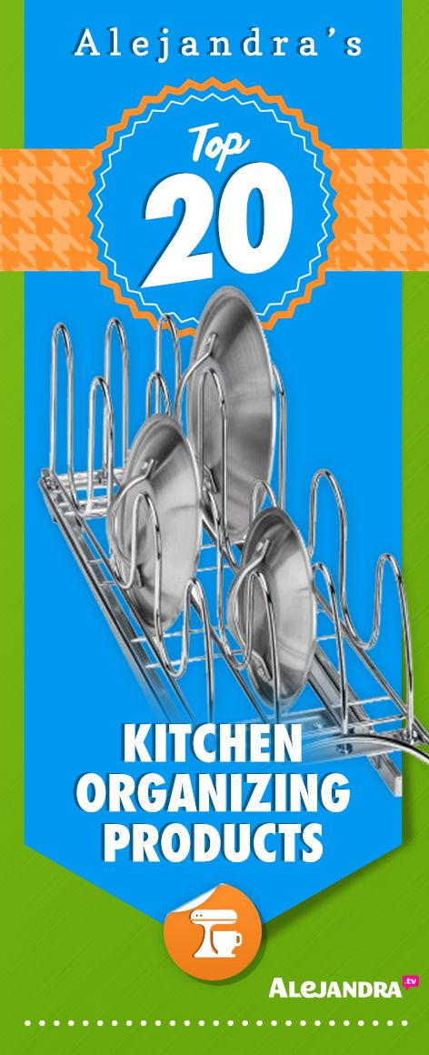 Top 20 Kitchen Organizing Products from https://www.alejandra.tv/shop/best-home-organizational-products/?producttype=kitchen&utm_source=Pinterest&utm_medium=Pin&utm_content=KitchenProducts&utm_campaign=TopProducts/#kitchen