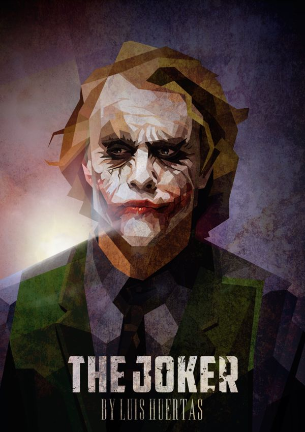 The Joker / Cubismo by Luis Huertas