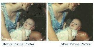 Our photo repair service  restores precious portraits. http://www.fixingphotos.com #photorestoration #giftideas