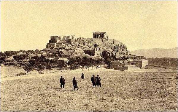 Νοτιοδυτική άποψη του Παρθενώνα το 1889-1892