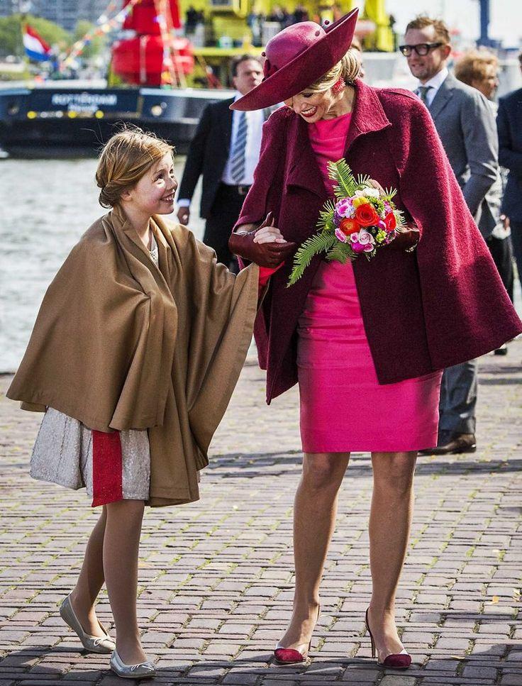 Koningin Máxima en prinses Alexia