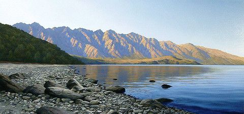 Sunrise on the Remarkables by Mark Rodgers