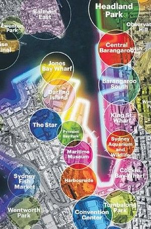 Huge potential: The western harbour precinct.