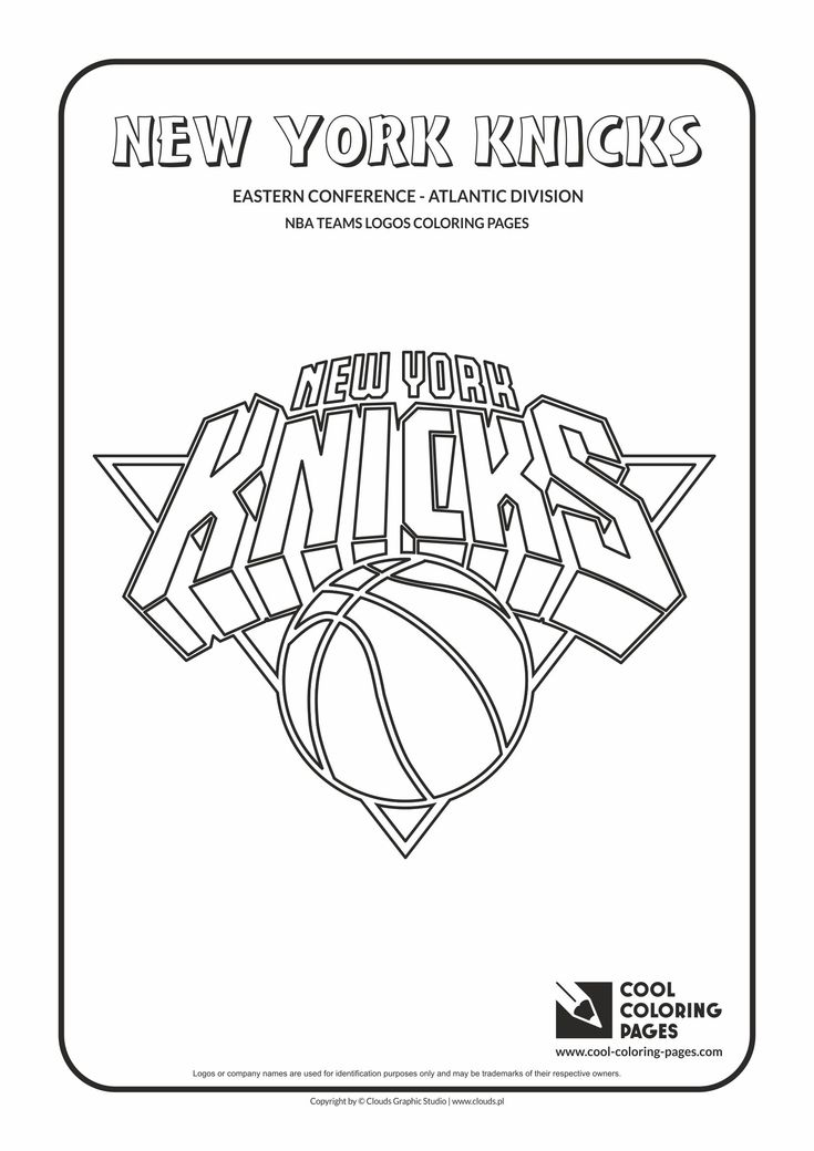 Cool Coloring Pages - NBA Teams Logos / New York Knicks logo / Coloring page…