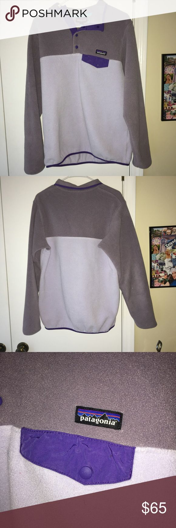 PARAGONIA SYNCHILLA PULLOVER super cute and really hard to find! only worn once and im only selling because its too big for me:) Patagonia Sweaters