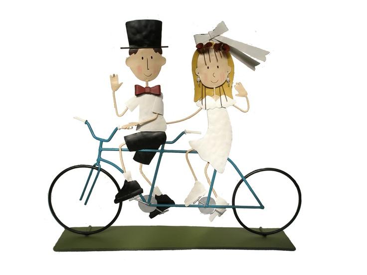 Muñecos de Bodas - Novios en Bicicleta - Invitaciones, regalos y muñecos para Bodas