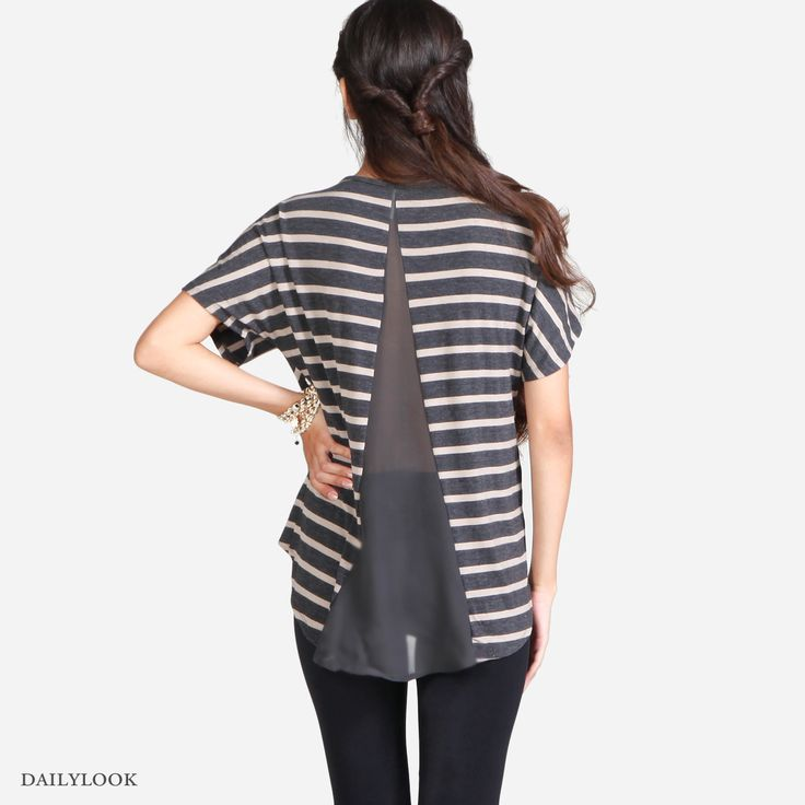 DYI - cut up back of t-shirt and sew in a triangle of alternate fabric?