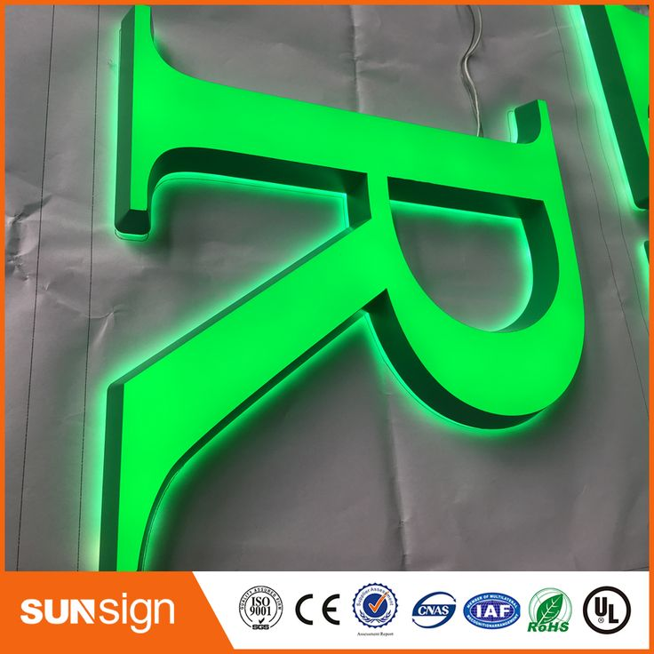 Hot selling custom Lighted alphabet metal led store signs #Affiliate