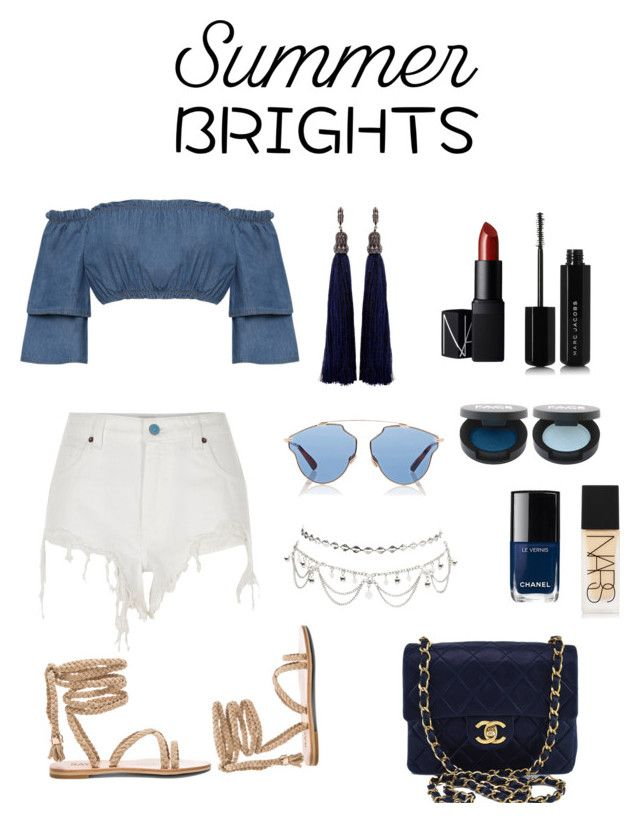"""summer🌊"" by parisianights on Polyvore featuring moda, WearAll, Lanvin, River Island, Chanel, Charlotte Russe, Christian Dior, NARS Cosmetics ve Marc Jacobs"