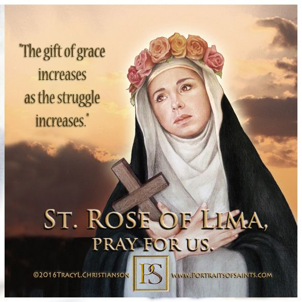 St. Rose of Lima,The 1st Canonized Saint of the Americas.