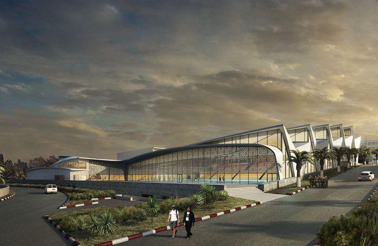 Piscine Olympique Alger - Piscines et centres aquatiques   Agence Coste Architectures